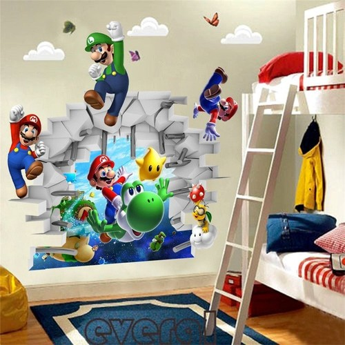 stickers mario pas cher ou d 39 occasion sur priceminister rakuten. Black Bedroom Furniture Sets. Home Design Ideas