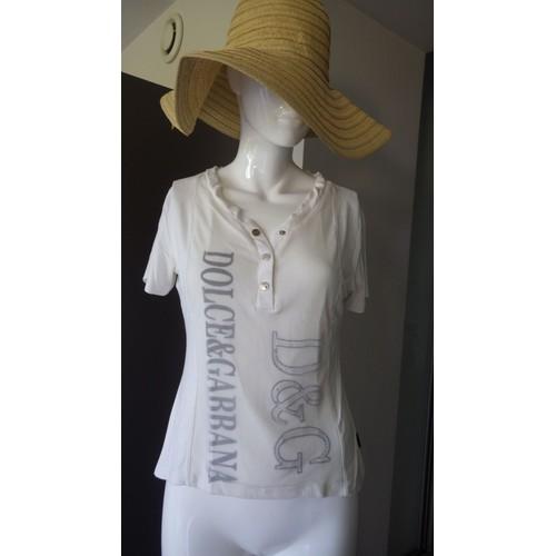 93650dc8dbb T-SHIRT DG DOLCE   GABBANA HOMME Blanc Taille S Vêtements