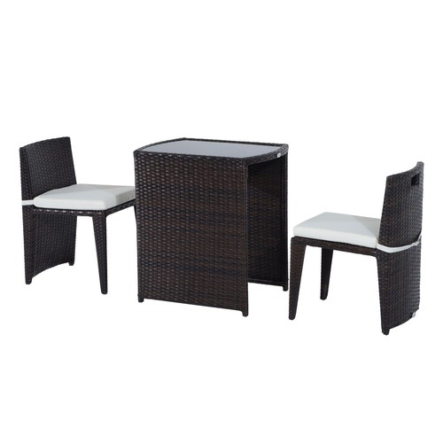 table avec chaise encastrable pas cher ou d 39 occasion sur priceminister rakuten. Black Bedroom Furniture Sets. Home Design Ideas