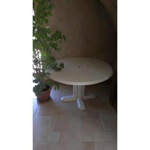 table de jardin ronde plastique blanc pas cher ou d\'occasion sur Rakuten