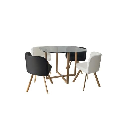 Table Et Chaise Noir Blanc