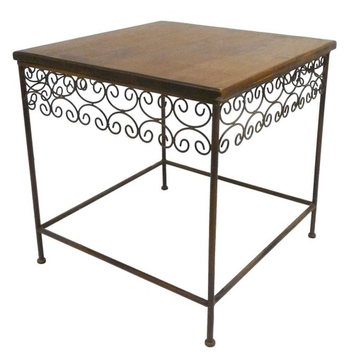 vente table fer forge bois et chiffons. Black Bedroom Furniture Sets. Home Design Ideas