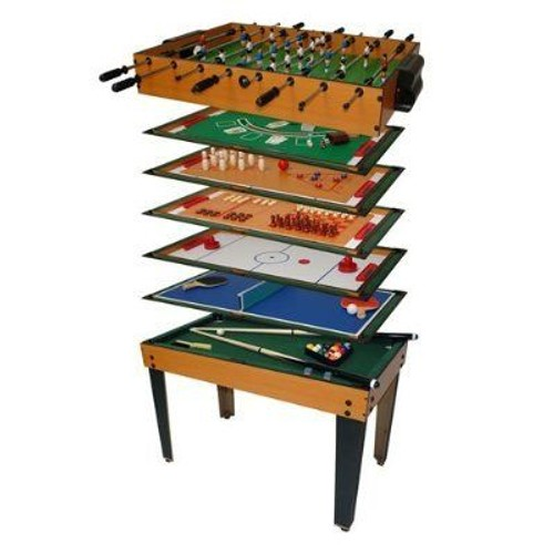 Table multi jeux 13 en 1 babyfoot billard tennis de table air hockey - Table multi jeux 5 en 1 ...