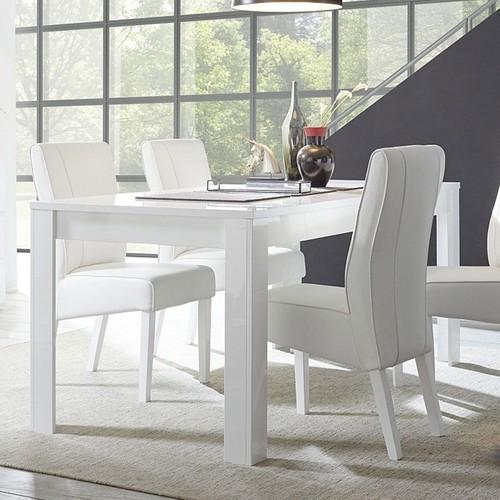 table salle a manger blanc laque pas cher ou d\'occasion sur Rakuten