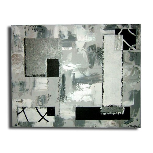 tableau xxl art contemporain moderne abstrait noir blanc gris argent. Black Bedroom Furniture Sets. Home Design Ideas