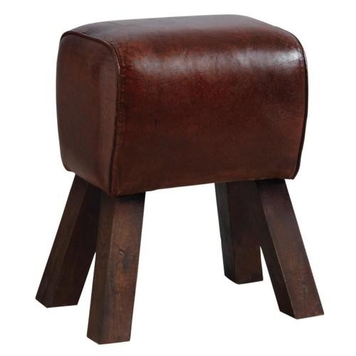 d1640b390b655 tabouret cuir aubry gaspard pas cher ou d occasion sur Rakuten