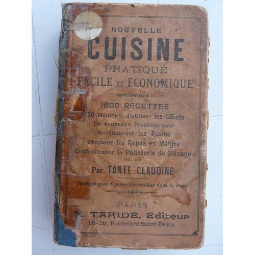 Nouvelle cuisine pratique facile et economique de tante for Anciens livres de cuisine