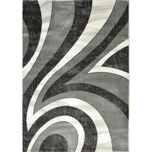 tapis salon gris noir blanc pas cher ou d\'occasion sur Rakuten