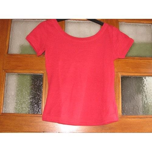 8e6c9c93fb4630 Tee shirt femme couleur rouge taille 40 promod