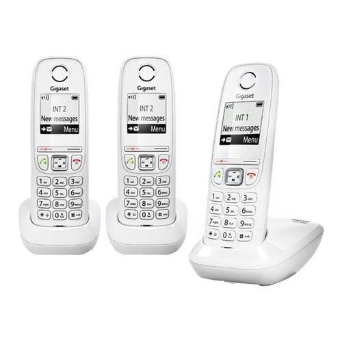 Gigaset AS405 Trio - Téléphone sans fil avec ID d appelant - DECT GAP -  blanc + 2 combinés supplémentaires a97505db8196