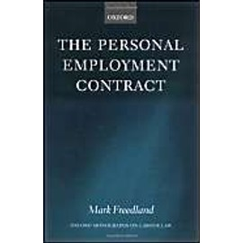 The Personal Employment Contract de Mark Freedland