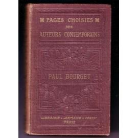 Pages Choisies Des Auteurs Contemporains: Paul Bourget. de Toudoville Ga�tan