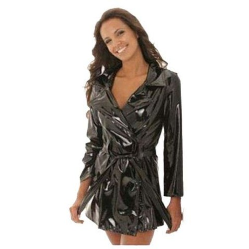 Veste simili cuir femme marron pas cher