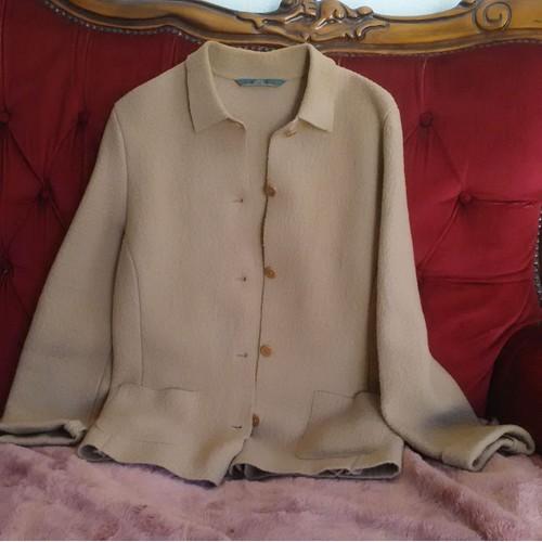 Veste beige femme caroll