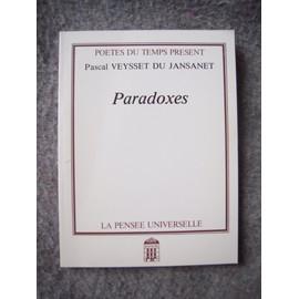 Paradoxes de Veysset du Jansanet, Pascal