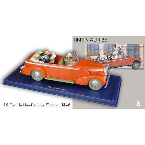 tintin - voitures - tintin au tibet (cadillac décapotable taxi)