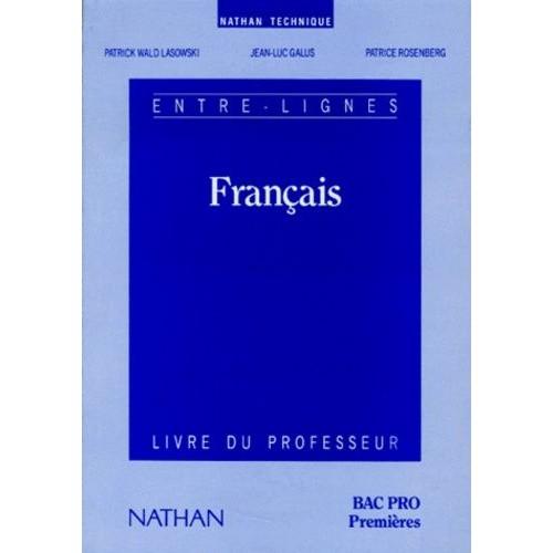 Francais Bac Pro 1ere Livre Du Professeur