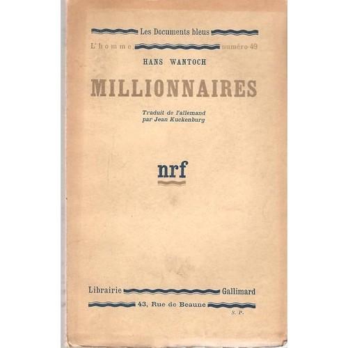 Millionnaires Nrf Gallimard 1933