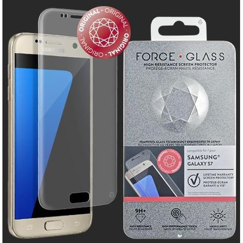 accessoire divers pour t l phone portable force glass verre tremp galaxy s7 prot ge cran. Black Bedroom Furniture Sets. Home Design Ideas