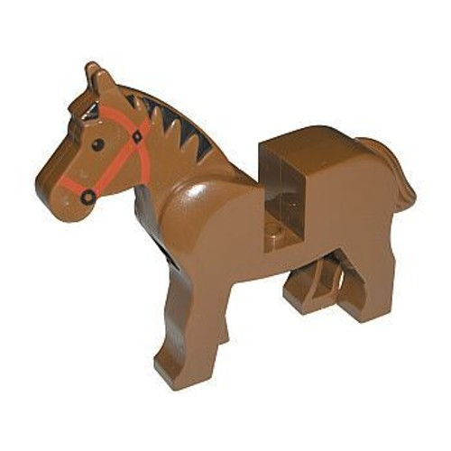 accessoires lego cheval marron