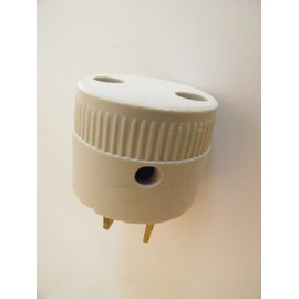 adaptateur ancien prise electrique femelle standard fiche broche m le plate 17x6 5x1mm. Black Bedroom Furniture Sets. Home Design Ideas