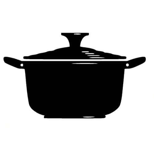 Adhesif sticker ustensile de cuisine faitout cocotte for Ustensile de cuisine en l