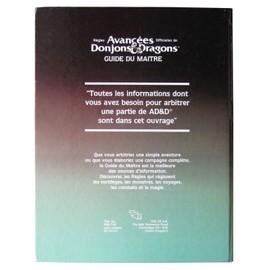 r gles avanc es officielles de donjons dragons guide du ma tre par gary gygax. Black Bedroom Furniture Sets. Home Design Ideas