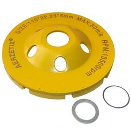 aerzetix disque diamant poncer 110mm assiette pour meuleuse 115mm b ton pierre. Black Bedroom Furniture Sets. Home Design Ideas