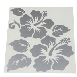aerzetix gris plein sticker autocollant planche fleurs hibiscus 160 148mm pour auto moto. Black Bedroom Furniture Sets. Home Design Ideas