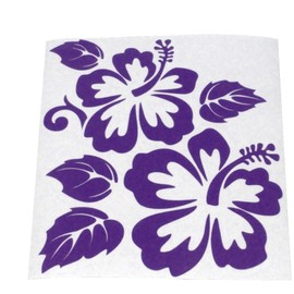 Stickers voiture fleurs hibiscus for Stickers exterieur