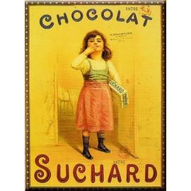Affiche 50x70cm publicite retro chocolat suchard fille for Affiche cuisine retro