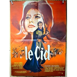 affiche cin ma pli e 60 x 80 cm le cid 1960 de anthony mann avec charlton heston sophia loren. Black Bedroom Furniture Sets. Home Design Ideas