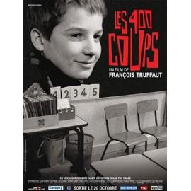 Affiche du film les 400 coups de francois truffaut version restaur e format 120x160cm - Cinema les 400 coups villefranche ...