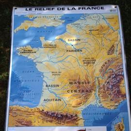 Affiche Murale Carte De France Scolaire Mdi Achat Et Vente Rakuten
