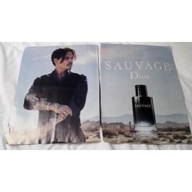 Affiche Papier Publicité Johnny Depp Parfum Dior Sauvage Rakuten