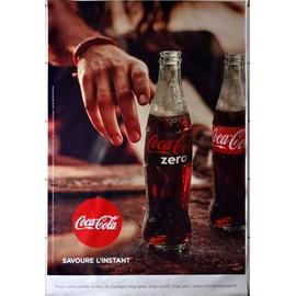 affiche publicitaire coca cola savoure l 39 instant mod le z ro grand format 120x175 cm. Black Bedroom Furniture Sets. Home Design Ideas