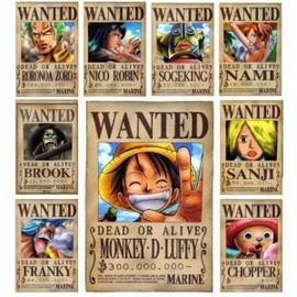 Affiches one piece wanted achat vente de affiches - Affiche wanted one piece ...