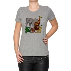 Africain Animaux Femme T-Shirt Cou D\u002
