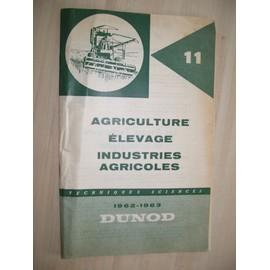 Agriculture �levage Industries Agricoles de dunod