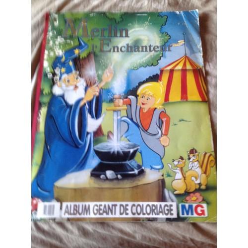 Album g ant de coloriage merlin l 39 enchanteur achat et vente - Frais de port mon album photo ...