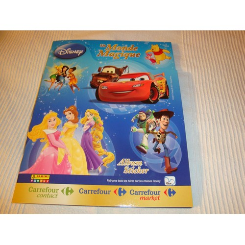 album livre sticker autocollants carrefour disney un monde magique. Black Bedroom Furniture Sets. Home Design Ideas