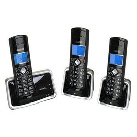alcatel versatis d300 trio t l phone sans fil avec identification de l 39 appelant dect noir. Black Bedroom Furniture Sets. Home Design Ideas