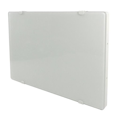 alpina verre blanc lcd 1500 watts radiateur panneau rayonnant fa ade en verre blanc. Black Bedroom Furniture Sets. Home Design Ideas