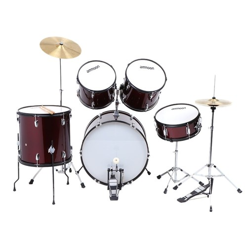 ammoon ensemble de batteries vine rouge pour adultes instrument percussion complet. Black Bedroom Furniture Sets. Home Design Ideas