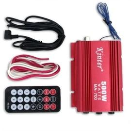 amplificateur ampli pour haut parleur 2 canaux 500w voiture auto moto rouge. Black Bedroom Furniture Sets. Home Design Ideas