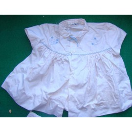 Ancien Brod� - B�b� Robe (6 Mois) 30cm Longe