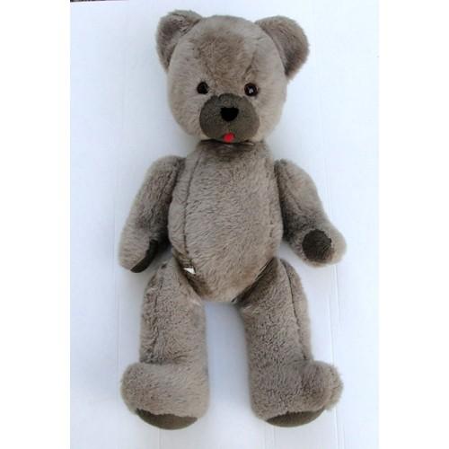 ancien ours teddy bear en peluche articul e geant 85cm. Black Bedroom Furniture Sets. Home Design Ideas