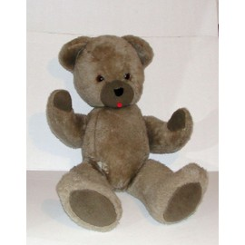 Ancien Ours Teddy Bear En Peluche Articulée Geant 85cm Nounours ...