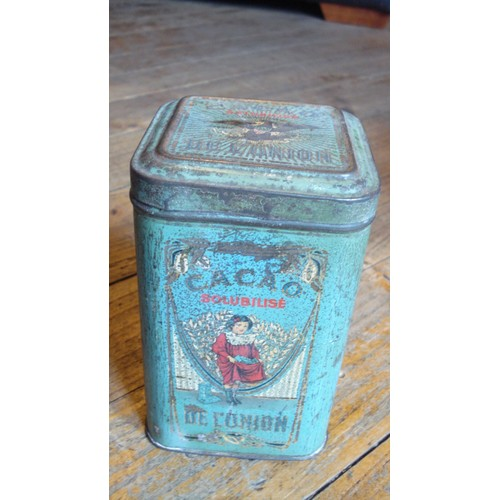 Ancienne boite metal tole 500g cacao de l 39 union ca 1920 - Boite metal ancienne ...