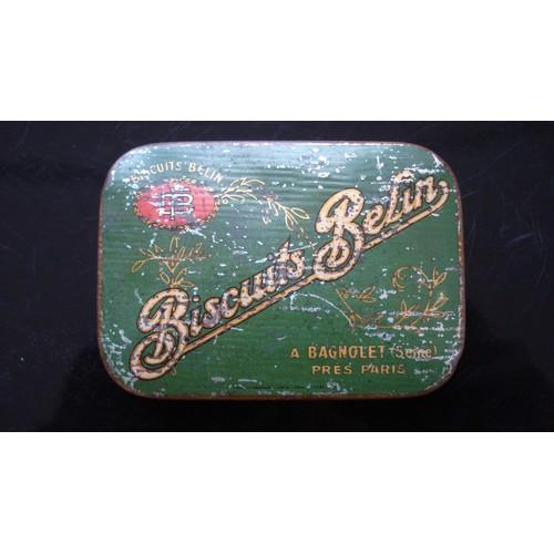 Ancienne boite metal tole biscuits belin bagnolet ca 1910 - Boite metal ancienne ...